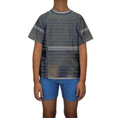 Building Pattern Kids  Short Sleeve Swimwear
