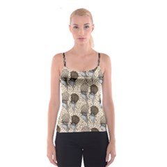 Bouffant Birds Spaghetti Strap Top