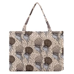 Bouffant Birds Medium Zipper Tote Bag