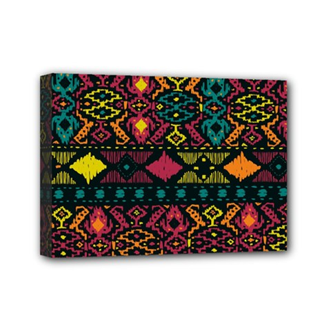 Bohemian Patterns Tribal Mini Canvas 7  X 5