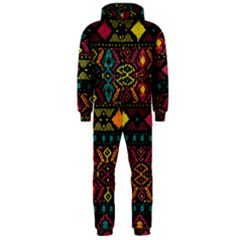 Bohemian Patterns Tribal Hooded Jumpsuit (men)
