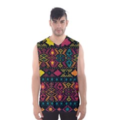 Bohemian Patterns Tribal Men s Basketball Tank Top
