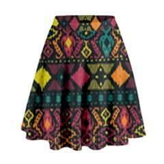 Bohemian Patterns Tribal High Waist Skirt