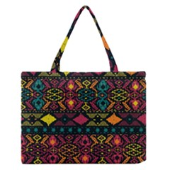 Bohemian Patterns Tribal Medium Zipper Tote Bag