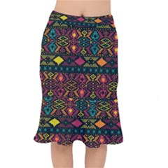 Bohemian Patterns Tribal Mermaid Skirt