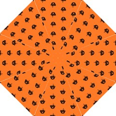 Funny Halloween   Burned Skull Pattern Folding Umbrellas by MoreColorsinLife