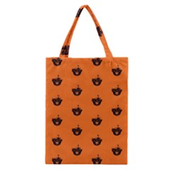 Funny Halloween   Burned Skull Pattern Classic Tote Bag by MoreColorsinLife