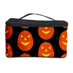 Funny Halloween   Pumpkin Pattern 2 Cosmetic Storage Case by MoreColorsinLife