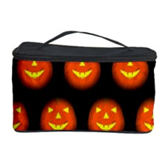 Funny Halloween   Pumpkin Pattern Cosmetic Storage Case by MoreColorsinLife