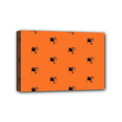 Funny Halloween   Spider Pattern Mini Canvas 6  X 4  by MoreColorsinLife