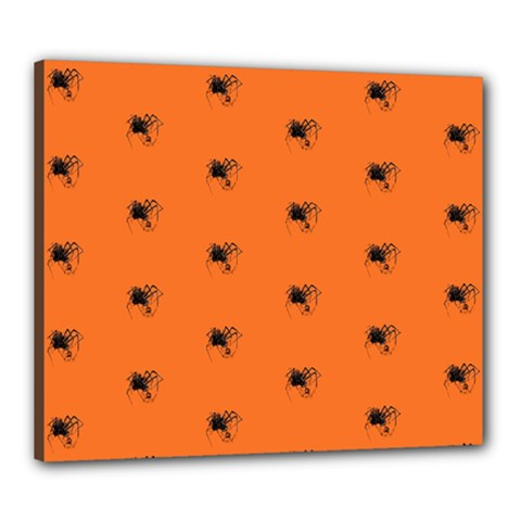 Funny Halloween   Spider Pattern Canvas 24  X 20  by MoreColorsinLife