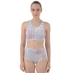 Simple Saturated Pattern Bikini Swimsuit Spa Swimsuit