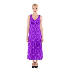 Decorative Seamless Pattern  Sleeveless Maxi Dress
