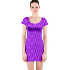 Decorative Seamless Pattern  Short Sleeve Bodycon Dress