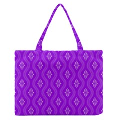Decorative Seamless Pattern  Medium Zipper Tote Bag