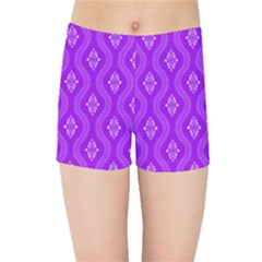 Decorative Seamless Pattern  Kids Sports Shorts