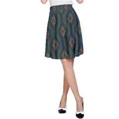 Ornamental Pattern Background A Line Skirt