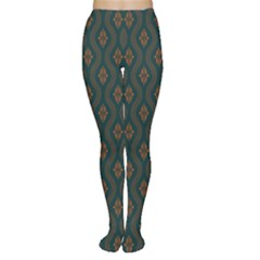 Ornamental Pattern Background Women s Tights