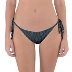 Ornamental Pattern Background Reversible Bikini Bottom