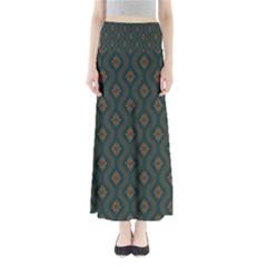 Ornamental Pattern Background Full Length Maxi Skirt