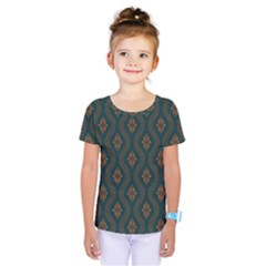 Ornamental Pattern Background Kids  One Piece Tee