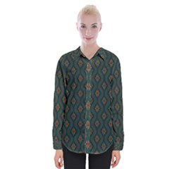 Ornamental Pattern Background Womens Long Sleeve Shirt