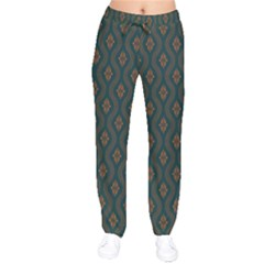 Ornamental Pattern Background Drawstring Pants