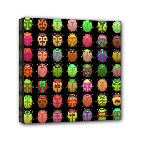 Beetles Insects Bugs Mini Canvas 6  X 6  by BangZart