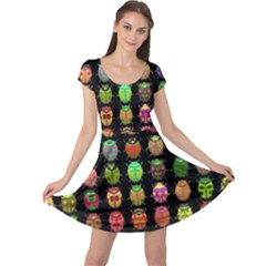 Beetles Insects Bugs Cap Sleeve Dresses