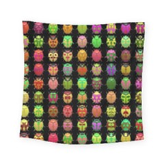Beetles Insects Bugs Square Tapestry (small)