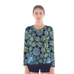 Blue Lotus Women s Long Sleeve Tee