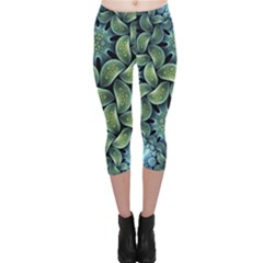 Blue Lotus Capri Leggings