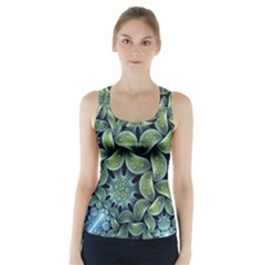 Blue Lotus Racer Back Sports Top