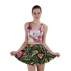 Bohemia Floral Pattern Mini Skirt