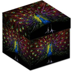Beautiful Peacock Feather Storage Stool 12   by BangZart