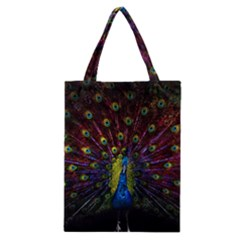 Beautiful Peacock Feather Classic Tote Bag