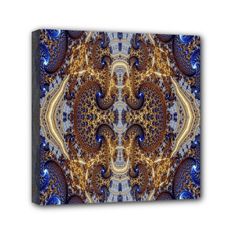 Baroque Fractal Pattern Mini Canvas 6  X 6  by BangZart