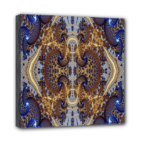 Baroque Fractal Pattern Mini Canvas 8  X 8  by BangZart
