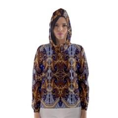 Baroque Fractal Pattern Hooded Wind Breaker (women)