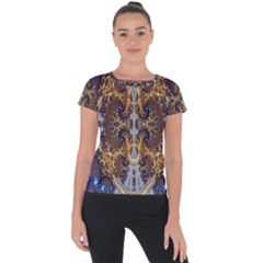 Baroque Fractal Pattern Short Sleeve Sports Top