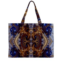 Baroque Fractal Pattern Medium Tote Bag by BangZart