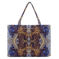 Baroque Fractal Pattern Medium Zipper Tote Bag