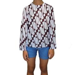 Batik Art Patterns Kids  Long Sleeve Swimwear