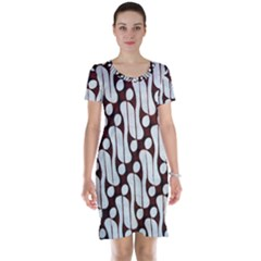 Batik Art Patterns Short Sleeve Nightdress