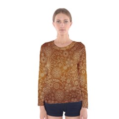 Batik Art Pattern Women s Long Sleeve Tee