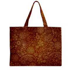 Batik Art Pattern Zipper Mini Tote Bag