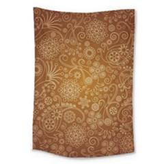 Batik Art Pattern Large Tapestry