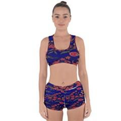 Batik  Fabric Racerback Boyleg Bikini Set