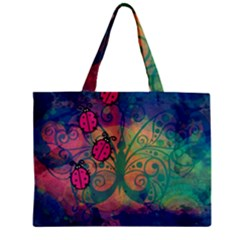 Background Colorful Bugs Zipper Mini Tote Bag by BangZart