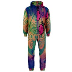 Background Colorful Bugs Hooded Jumpsuit (men)